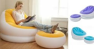 Intex Inflatable Sofa and Stool in pakistan telebrand.pk