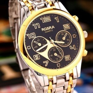 ROSRA BLACK & GOLDEN WATCH