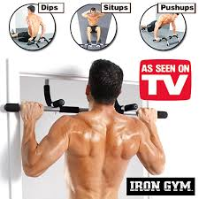 Get slim & Trim body with Iron rod Gym Bar easy chin up push ups