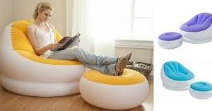 Intex Inflatable Sofa and Stool in pakistan telebrand.pk