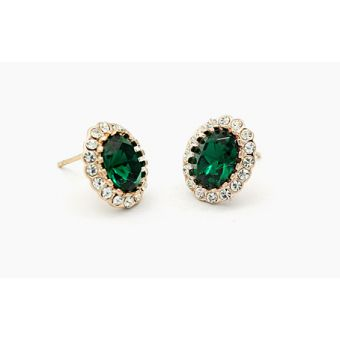 Crystals Stud Earrings 18K Gold Plated in pakistan