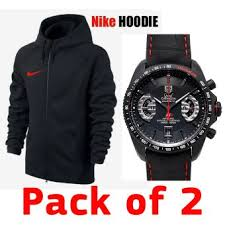 Tag Heuer Calibre 17 Watch and Nike Hoodie