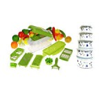 12 pieces Genius Nicer Dicer + 5 Bowls Set online in Pakistan