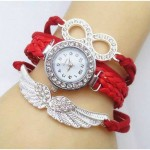 Fancy Red Bracelet Watch in Pakistan