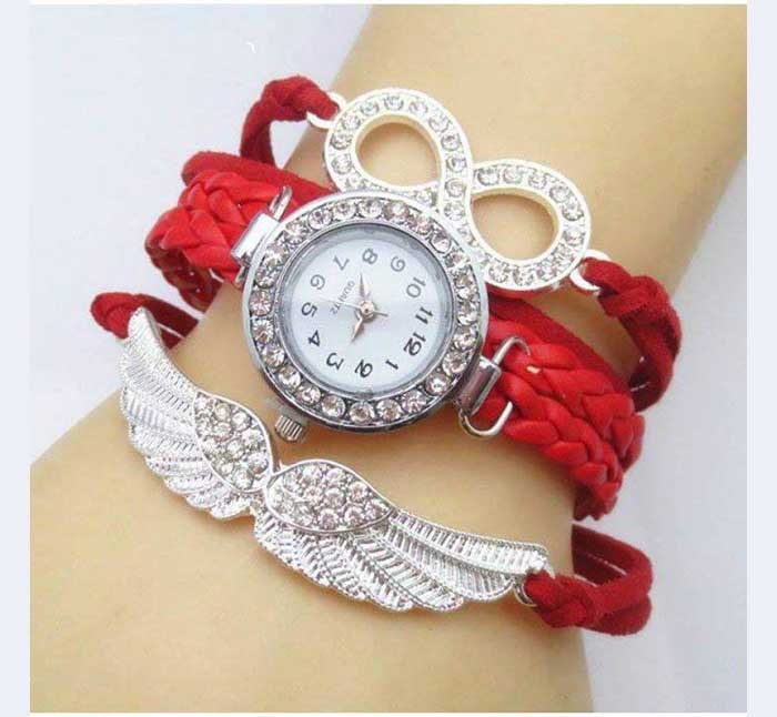 Fancy Red Bracelet Watch in Pakistan