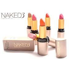 Pack Of 6 Naked 3 Lipsticks