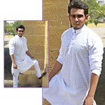 Embroidered Chicken Fabric Stitched Shalwar Kameez For Men (White)