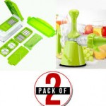 Pack of 2 Nicer Dicer Plus & Multifunction Manual Juicer