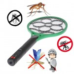 Electric LED Bug Fly Mosquito Zapper Swatter 2 In 1