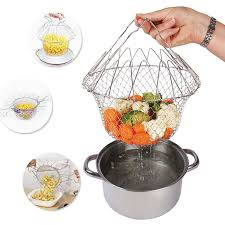Chef Basket 12 in 1 Kitchen Tool for Cook, Deep Fry, Boiling Solid Steel