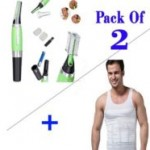 Pack Of 2 Slim N Lift Slimming Vest+Micro Touch Hair Trimmer