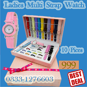 adies multi strap watch 10 pieces