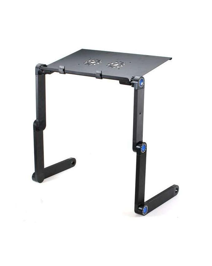 Adjustable Aluminum Laptop Table Stand with Cooling Pad